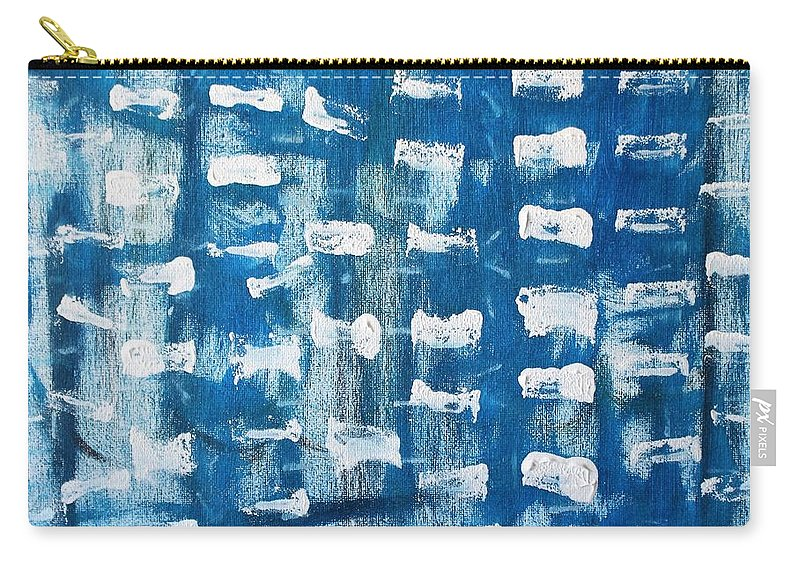 Blue Carry-all Pouch featuring the painting Whispering Pines by Pam Roth O'Mara