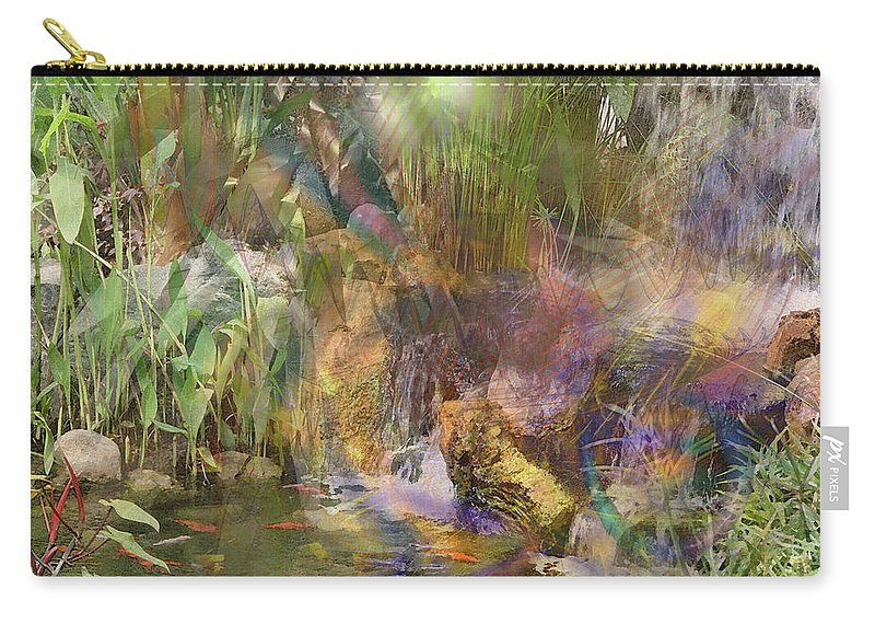 Whispering Waters Carry-all Pouch featuring the digital art Whispering Waters by John Beck