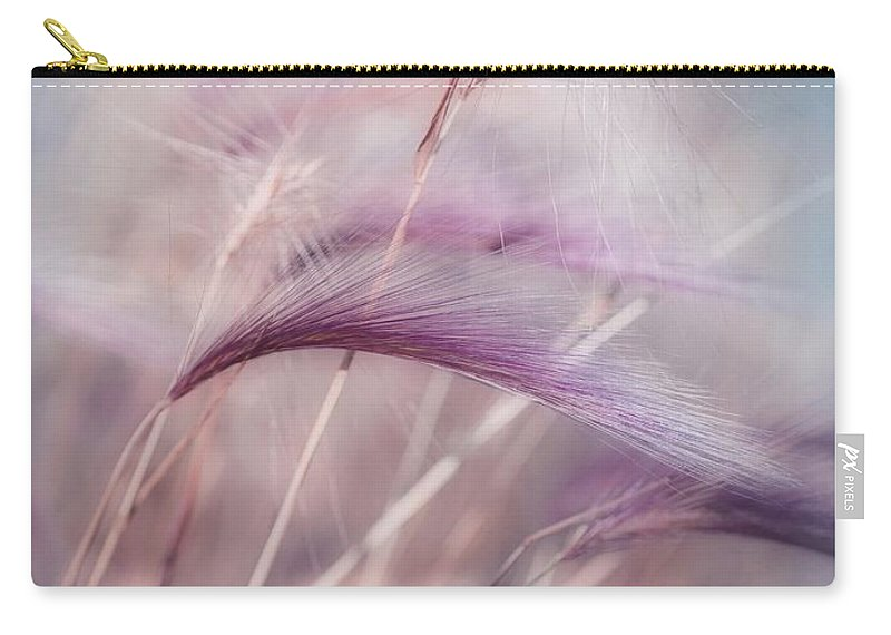 Barley Carry-all Pouch featuring the photograph Whispers In The Wind by Priska Wettstein