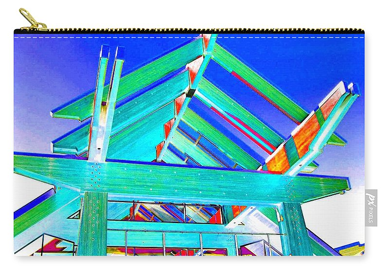 Whistler Conference Centre Carry-all Pouch featuring the digital art Whistler Conference Centre by Will Borden