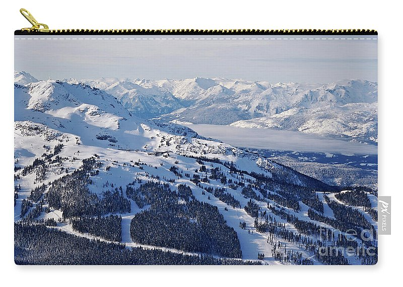 Whistler Carry-all Pouch featuring the photograph Whistler In Winter by Bruce Block