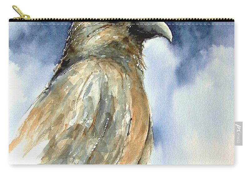 Falcon Carry-all Pouch featuring the painting Whistler by Sam Sidders