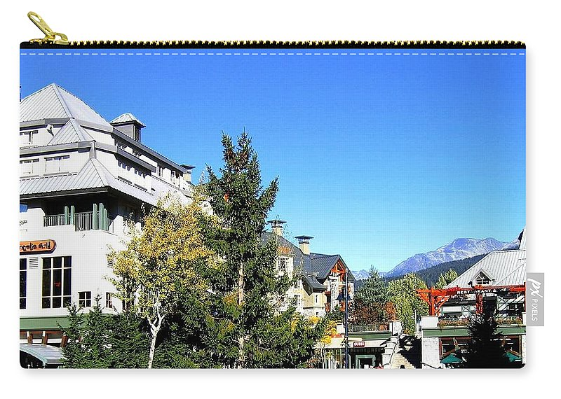 2010 Olympics Carry-all Pouch featuring the photograph Whistler Village by Will Borden