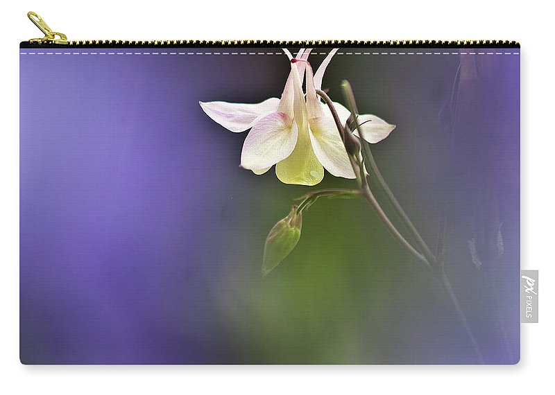 Aquilegia Carry-all Pouch featuring the photograph White Aquilegia by Heiko Koehrer-Wagner