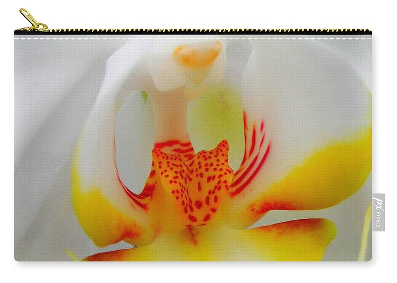 Flower Carry-all Pouch featuring the photograph White Beauty by Juergen Weiss