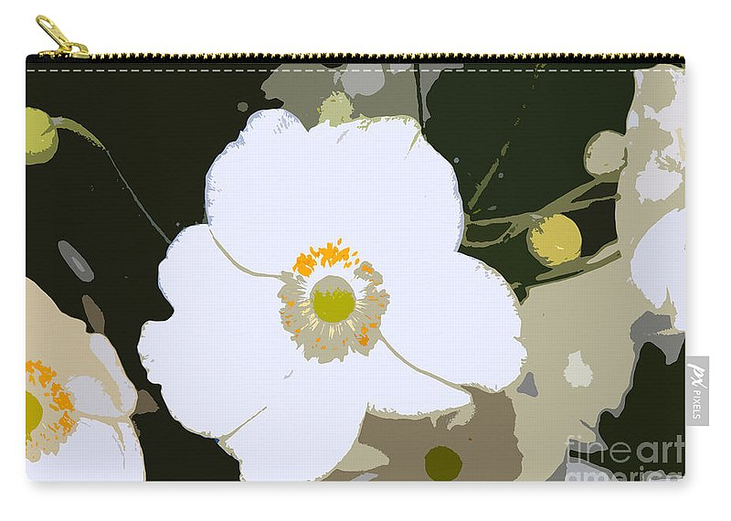 Flower Carry-all Pouch featuring the photograph White Beauty Work Number 6 by David Lee Thompson