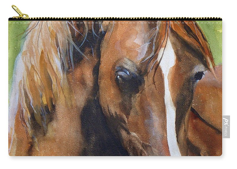 Horse Carry-all Pouch featuring the painting White Blaze by Jean Blackmer