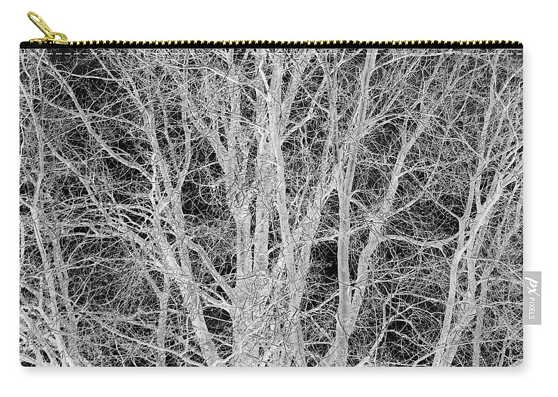 Tree Carry-all Pouch featuring the digital art White Branches by Munir Alawi