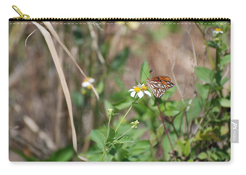 Butterfly Carry-all Pouch featuring the photograph White Butterfly by Rob Hans