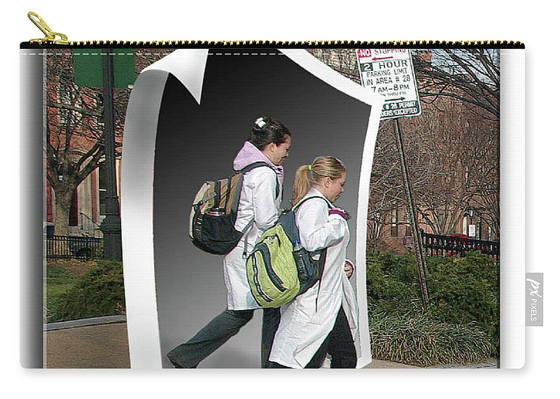 2d Carry-all Pouch featuring the photograph White Coats by Brian Wallace