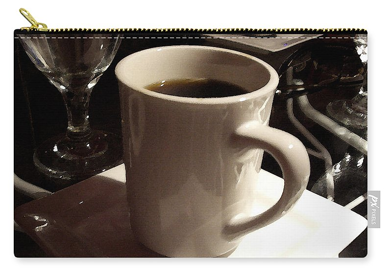 White Carry-all Pouch featuring the photograph White Cup by Tim Nyberg