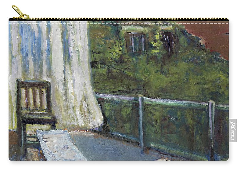White Curtain Carry-all Pouch featuring the painting White Curtain View by Craig Newland