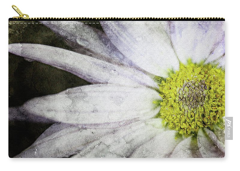 Flower Carry-all Pouch featuring the photograph White Daisy by Bonnie Marquette