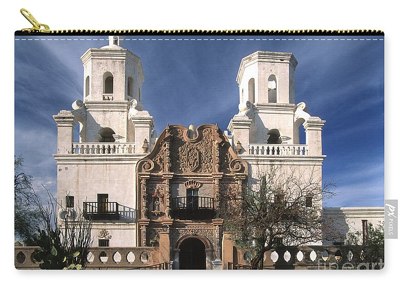 Southwest Carry-all Pouch featuring the photograph White Dove Of The Desert by Sandra Bronstein