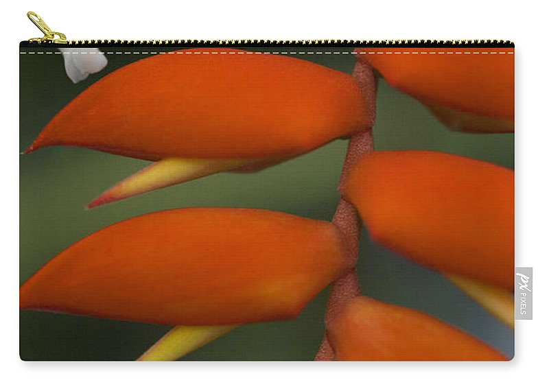 Heliconia Carry-all Pouch featuring the photograph White Flower by Karen Ulvestad