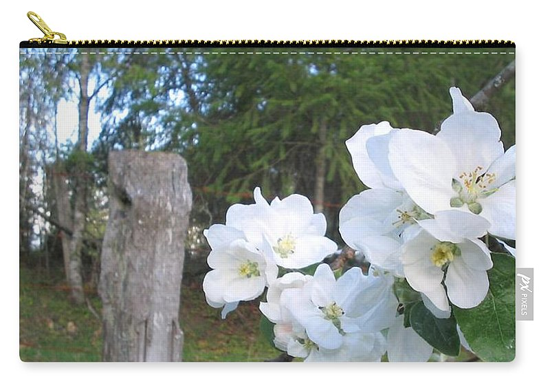 Flowers Carry-all Pouch featuring the photograph White Flowers by Valerie Josi