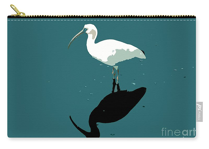 White Ibis Carry-all Pouch featuring the photograph White Ibis by David Lee Thompson
