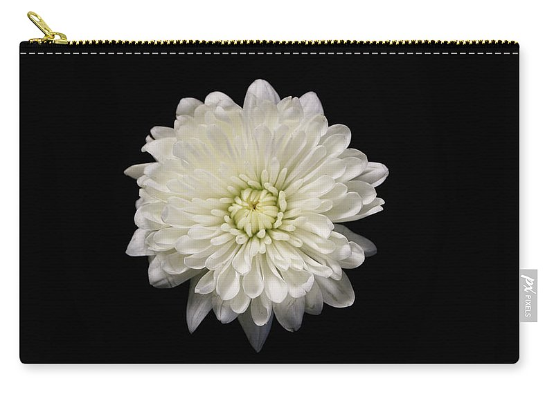 Flowers Carry-all Pouch featuring the photograph White by Krisjan Krafchak
