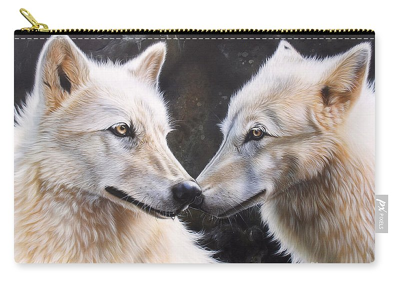 Acrylic Carry-all Pouch featuring the painting White Magic by Sandi Baker