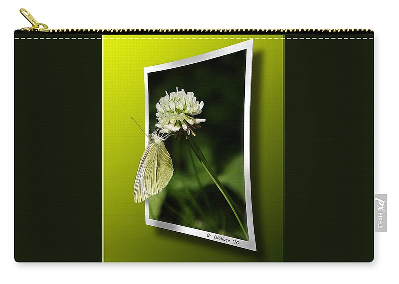 2d Carry-all Pouch featuring the photograph White On White by Brian Wallace