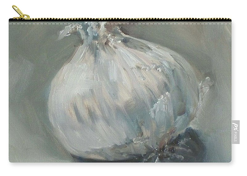 Onion Carry-all Pouch featuring the painting White Onion No. 1 by Kristine Kainer