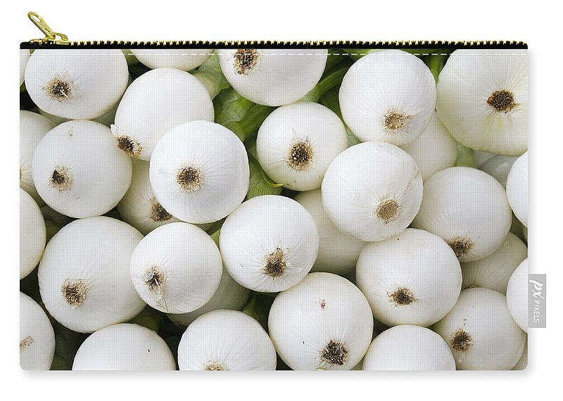 Fruit Carry-all Pouch featuring the photograph White Onions by John Trax