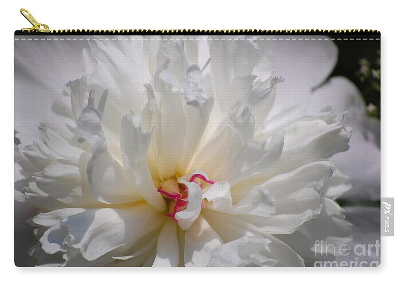 Digital Photography Carry-all Pouch featuring the photograph White Peony by David Lane