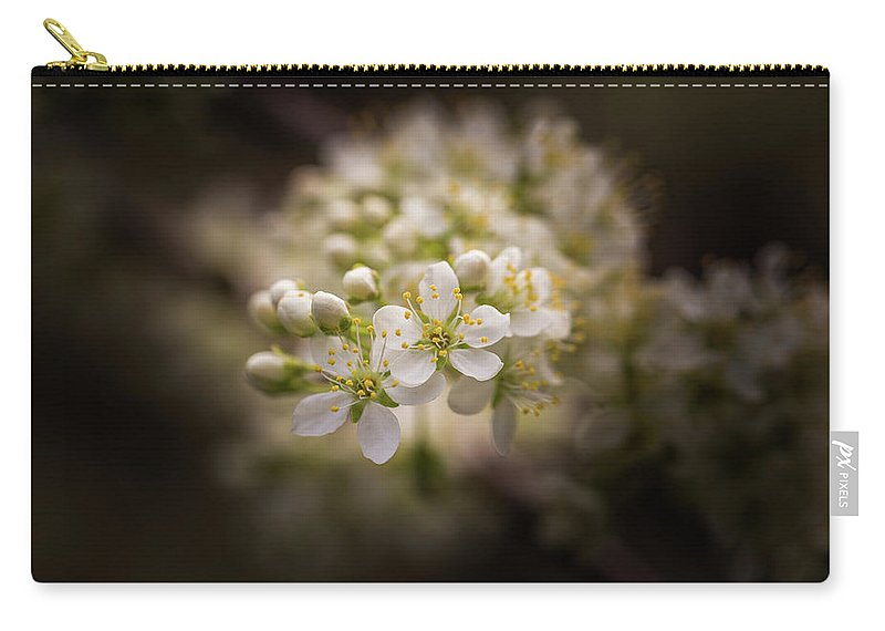 Plum Carry-all Pouch featuring the photograph White Plum Blossom- 2 by Calazone's Flics