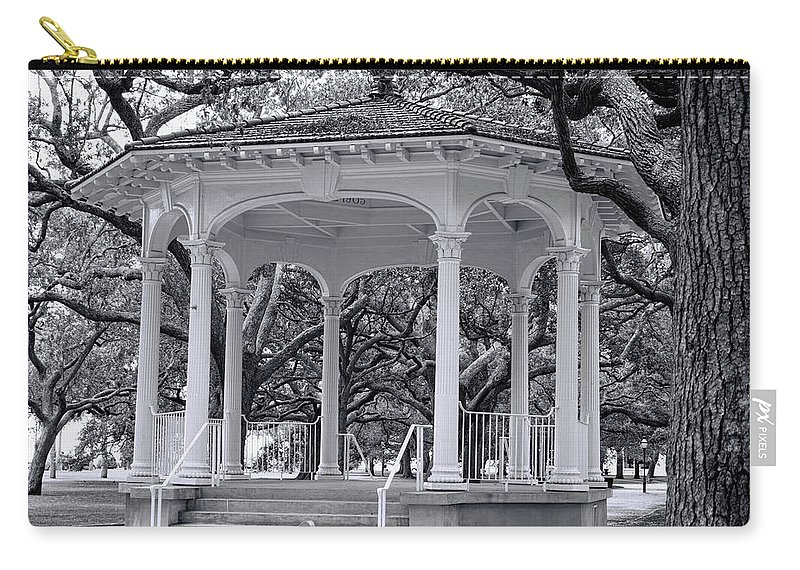White Point Carry-all Pouch featuring the photograph White Point Gardens by Ed Waldrop