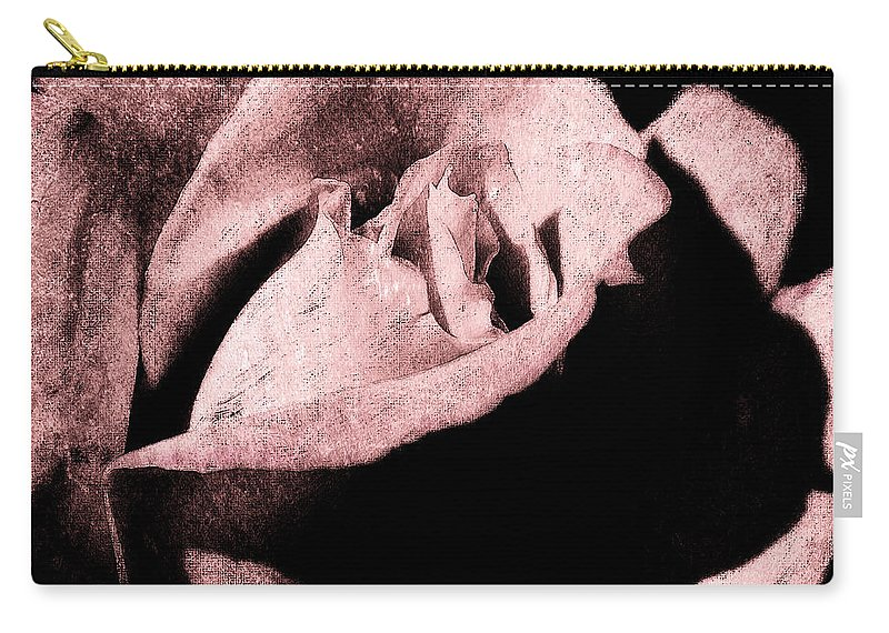 Antique Pink Carry-all Pouch featuring the digital art White Queen by Max Steinwald