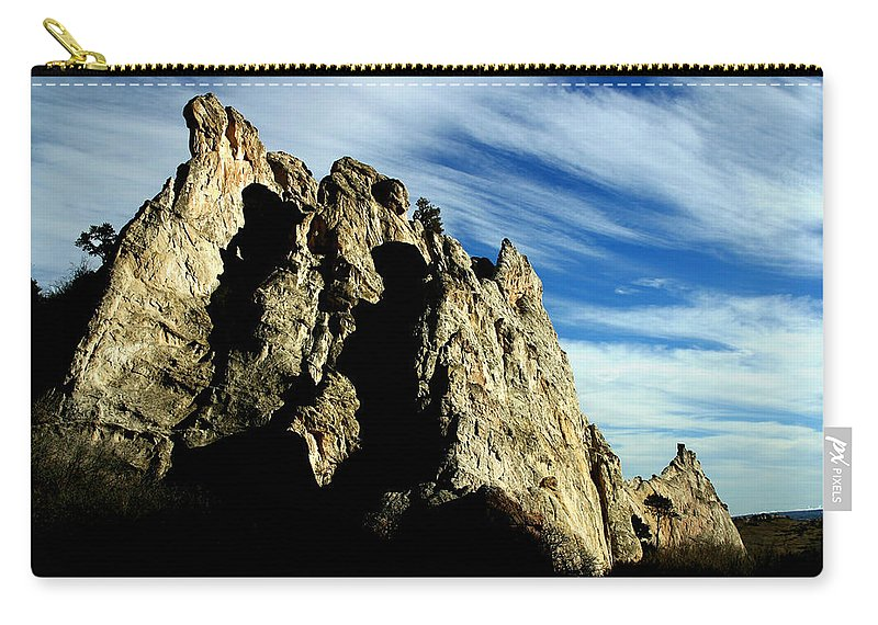 Garden Of The Gods Carry-all Pouch featuring the photograph White Rocks by Anthony Jones