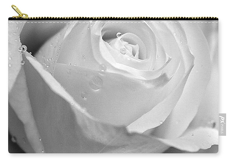 White Rose Carry-all Pouch featuring the photograph White Rose by Brian Roscorla