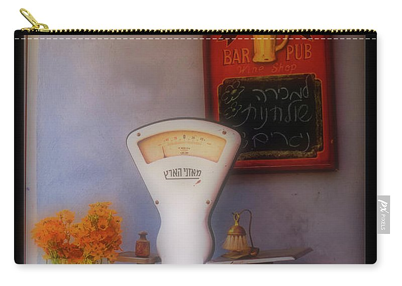 Psi Carry-all Pouch featuring the photograph White Scale by Ofer Zilberstein