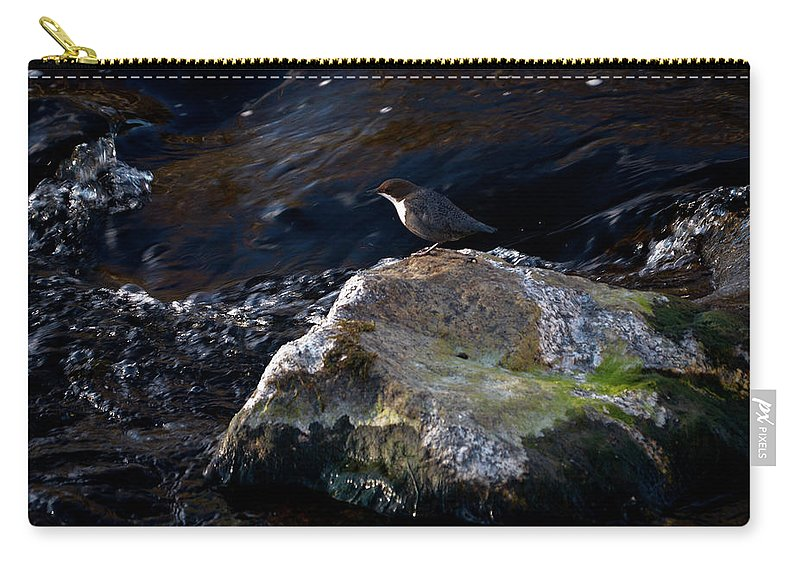 Lehtokukka Carry-all Pouch featuring the photograph White-throated Dipper Nr 2 by Jouko Lehto