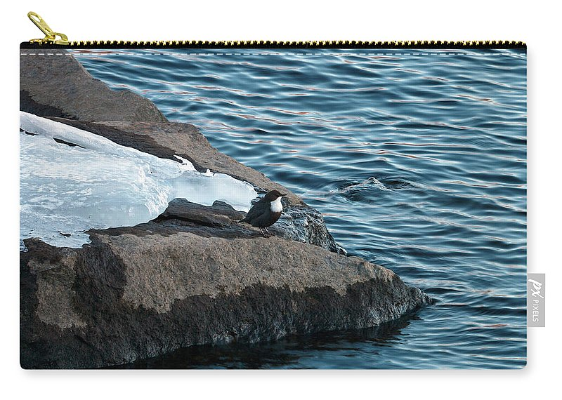 Lehtokukka Carry-all Pouch featuring the photograph White-throated Dipper Nr 3 by Jouko Lehto