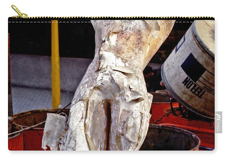 Trash Carry-all Pouch featuring the photograph White Trash by Skip Hunt