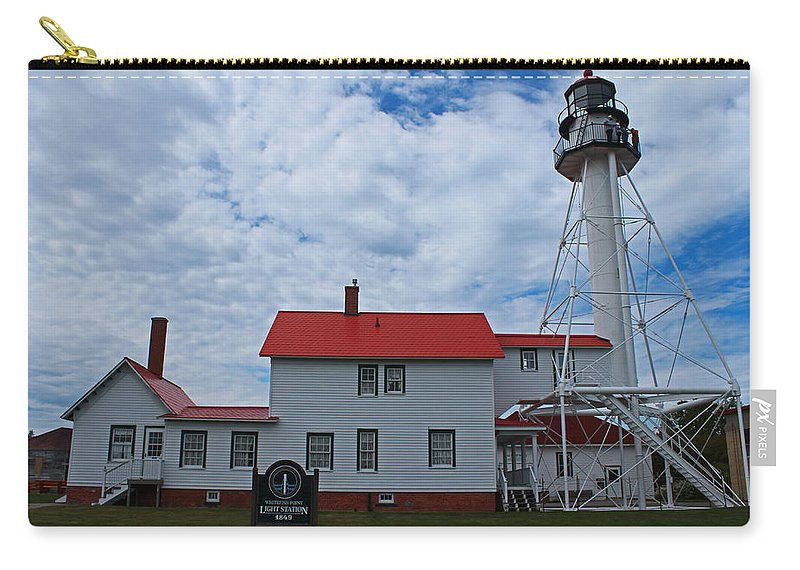 Whitefish Point Carry-all Pouch featuring the photograph Whitefish Point Lighthouse I by Michiale Schneider
