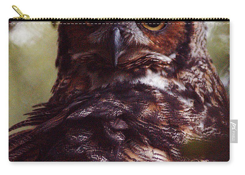 Clay Carry-all Pouch featuring the photograph Who by Clayton Bruster