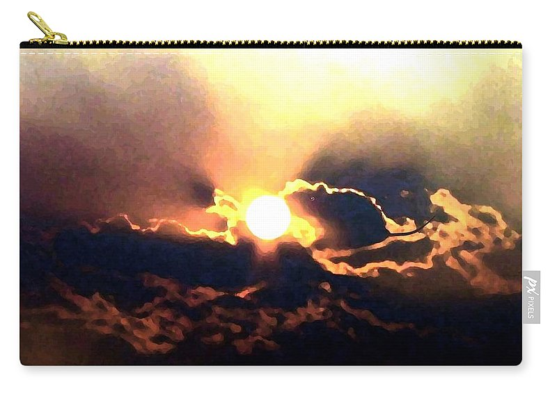 Abstract Carry-all Pouch featuring the digital art Who Has Kissed The Sun by Will Borden