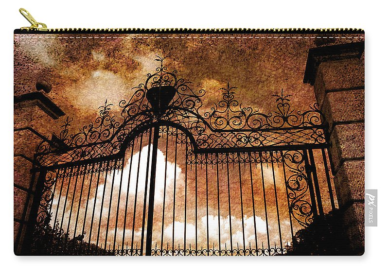 Iron Gate Carry-all Pouch featuring the photograph Who Is Knocking On Heavens Door by Susanne Van Hulst