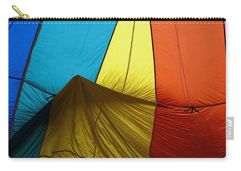 Balloon Carry-all Pouch featuring the photograph Who Landed This Balloon On Me by Mike Dawson