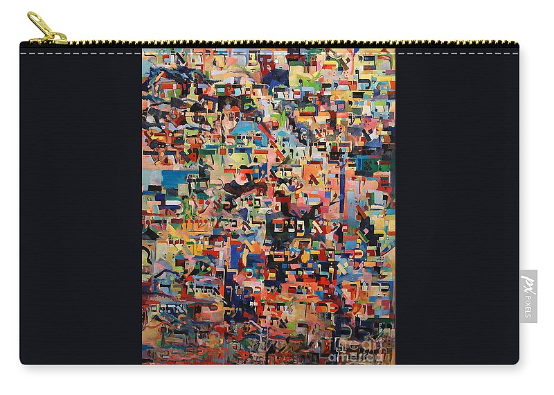 Jewish Art Carry-all Pouch featuring the painting To Whom We Must Answer by David Baruch Wolk
