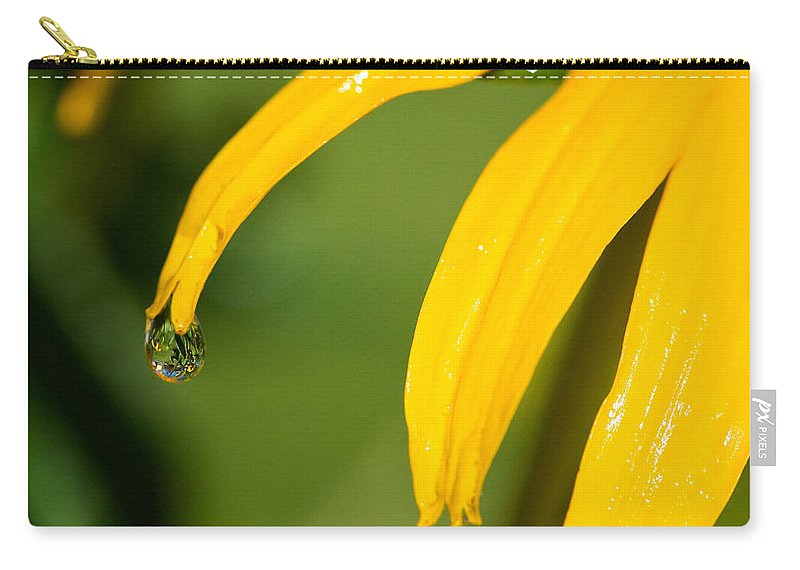 Lisa Knechtel Carry-all Pouch featuring the photograph Whole World Water Drop by Lisa Knechtel