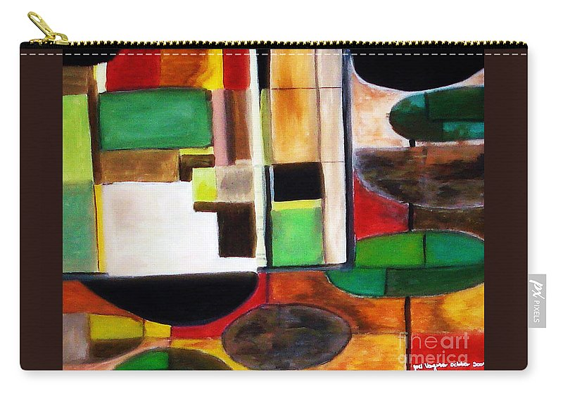 Acrylic Painting Carry-all Pouch featuring the painting Wholeness by Yael VanGruber