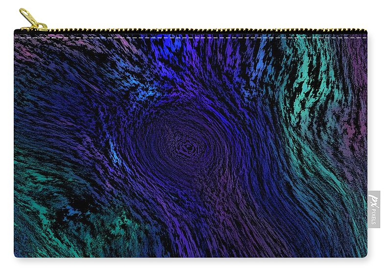 Abstract Digital Painting Carry-all Pouch featuring the digital art Whoof by David Lane