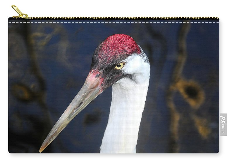 Whooping Crane Carry-all Pouch featuring the photograph Whooping Crane Mug Shot by David Lee Thompson