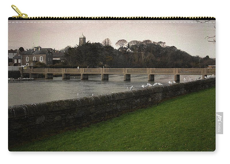 Footbridge Carry-all Pouch featuring the photograph Wicklow Footbridge by Tim Nyberg
