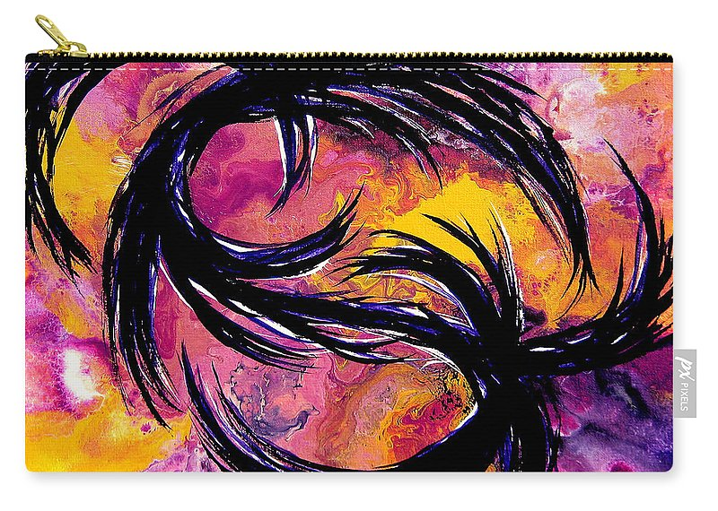 Contemporary Abstract Carry-all Pouch featuring the painting Wide Awake by Tylo Jacobs