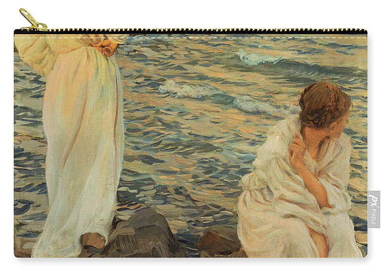 Wide Horizon Carry-all Pouch featuring the painting Wide Horizon by Ettore Tito