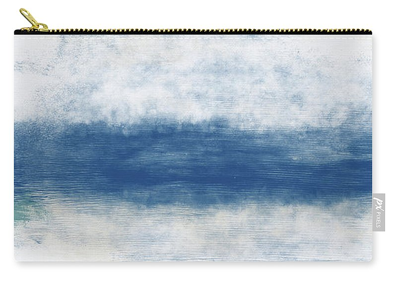 Beach Carry-all Pouch featuring the mixed media Wide Open Ocean- Art By Linda Woods by Linda Woods